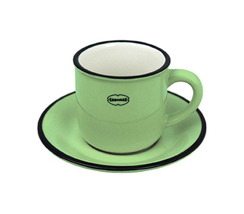 cabanaz espresso tasse saucen in rot blau gr n oder gelb ebay. Black Bedroom Furniture Sets. Home Design Ideas