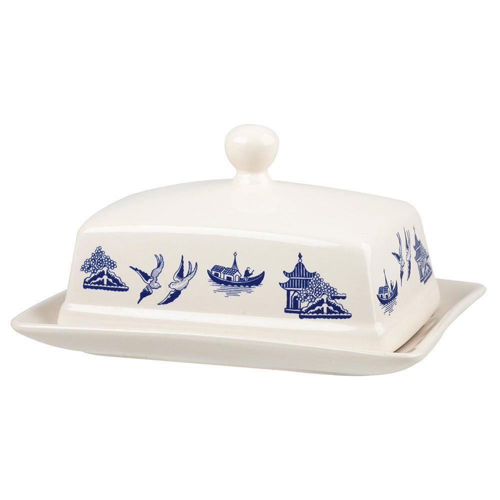 churchill china blau weide mit deckel butterdose  ebay ~ Geschirr Synonym