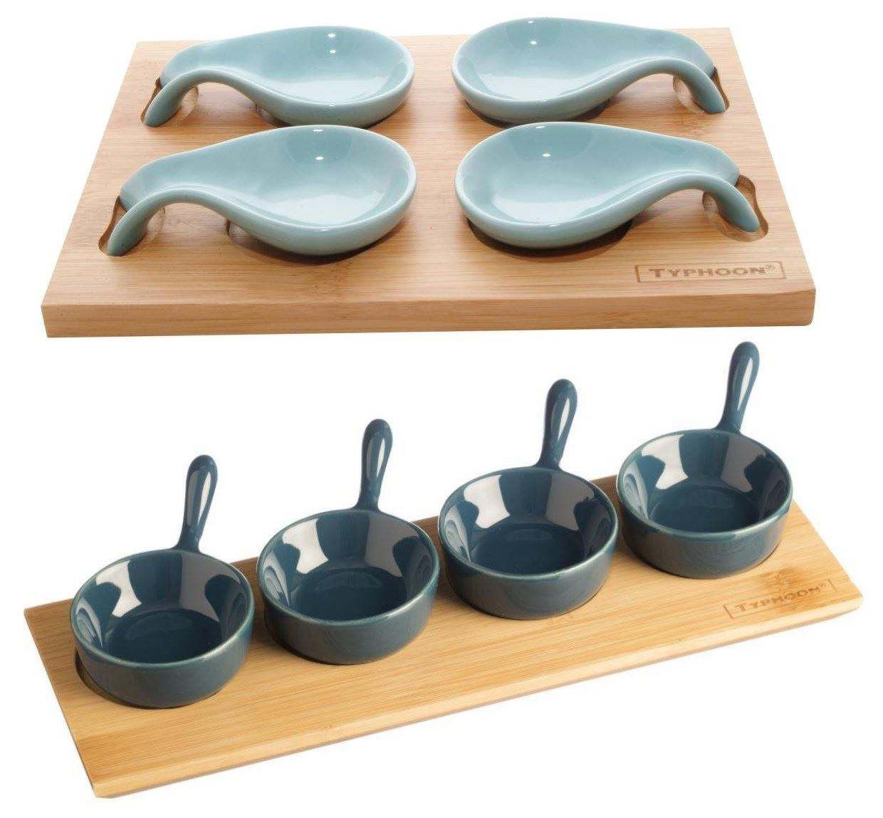 Typhoon tasting sets for appetisers canapes desserts mini for Canape spoons uk