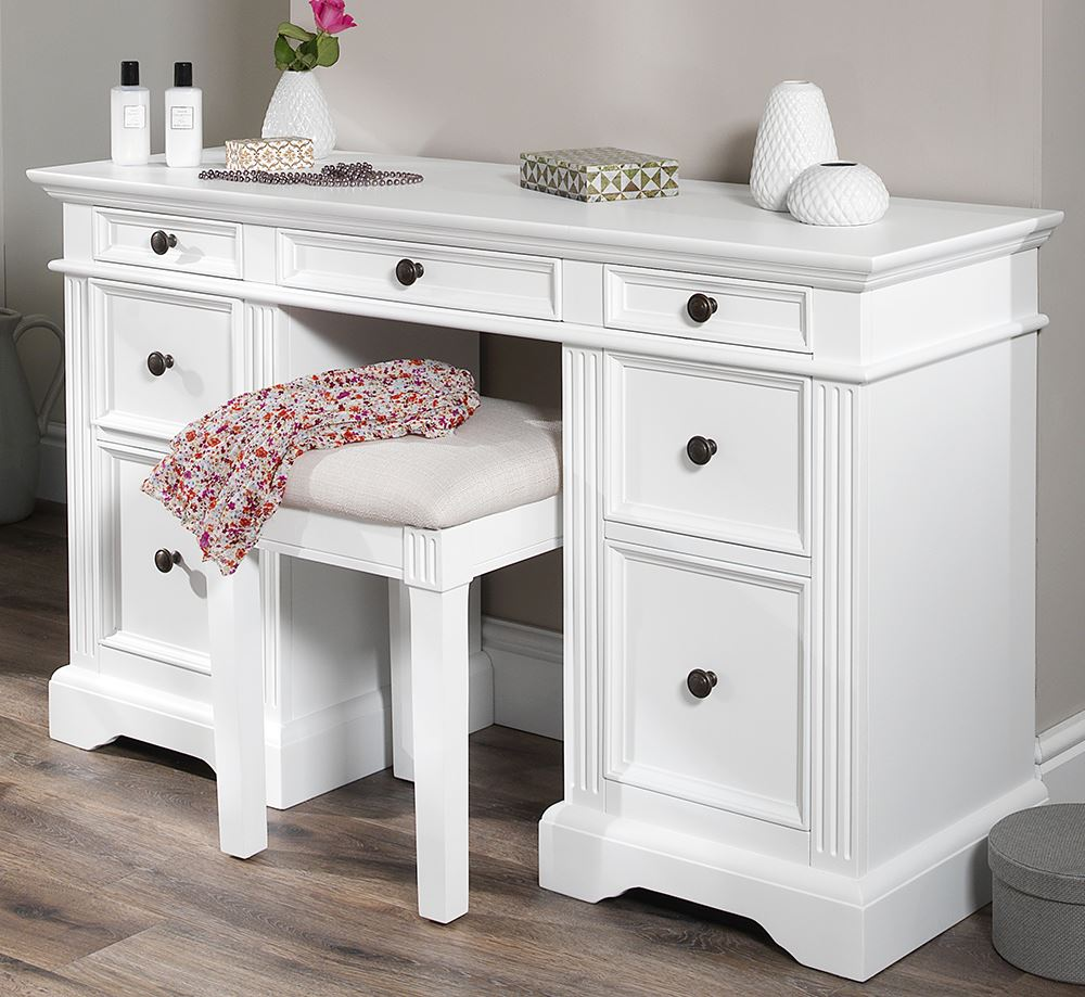 Gainsborough white bedroom furniture bedside cabinets for Dressing table cabinet