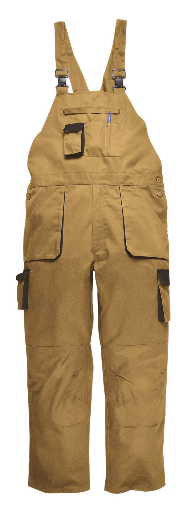 Portwest Texo Bib & Brace Knee Pad Pockets Elastic Back Trousers S - 4XL TX12
