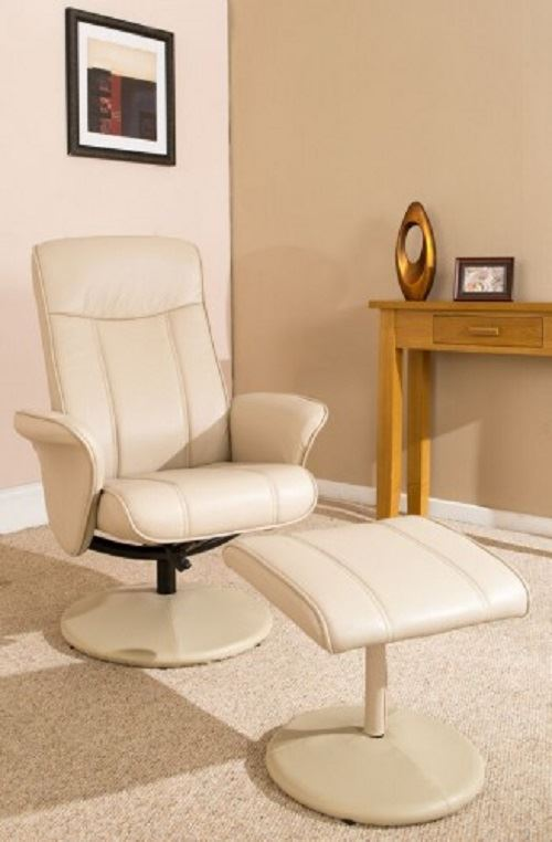 Vancouver Swivel Recliner Chair Reclining Armchair with FREE Matching Footstool