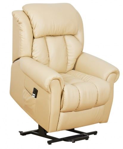 Warminster dual motor leather riser recliner chair for Dual motor recliner chairs