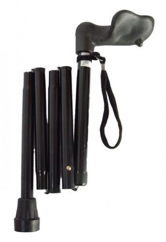 Ergonomic Grip Lightweight Folding Walking Stick Easy Fold Arthritis Adjustable