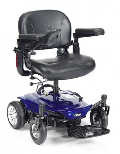 Drive cobalt portable powerchair electric travel for Lightweight motorized folding wheelchair
