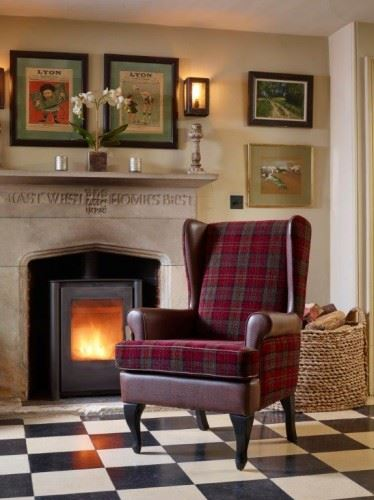 "Stirling Tartan High Back Chair Orthopedic Fireside Arm Chair - 20""/22"" Height"