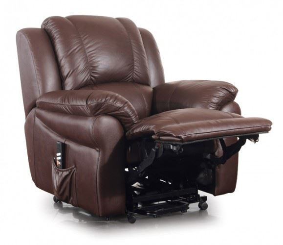 Jasper Dual Motor Italian Leather Electric Riser Recliner Chair Lift Armchair