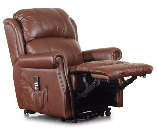 Montana Dual Motor Italian Leather Electric Riser Recliner Chair Lift Armchai
