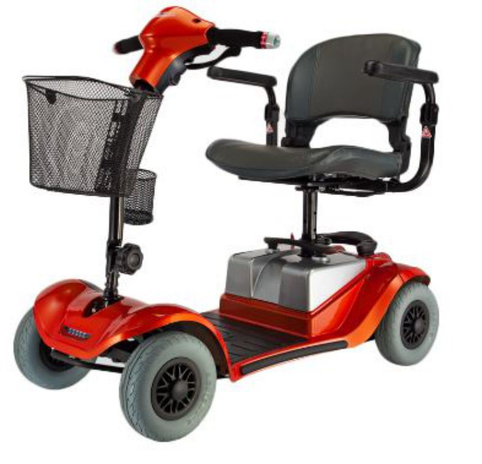 new deluxe mini s 4mph portable electric scooter 4 wheeled. Black Bedroom Furniture Sets. Home Design Ideas
