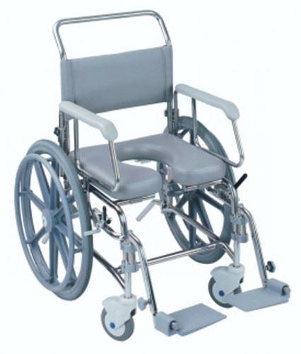 Self propelled mobile shower bathroom over toilet commode wheel chair