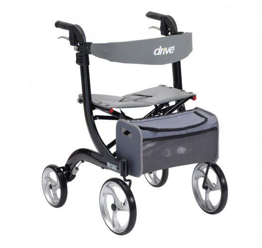 Drive Nitro 4 Wheeled Rollator Walking Frame Mobility Aid