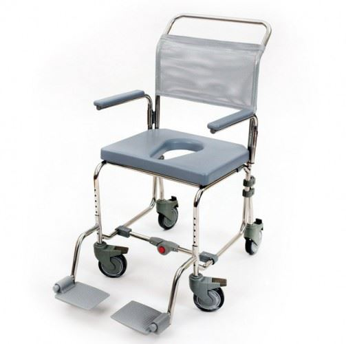 Folding Portable Mobile Transit Shower Chair mode
