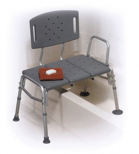 Plastic Bathroom Bath Shower Transfer Bench Chair Seat