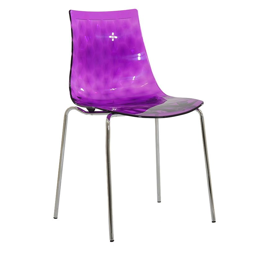 fizz gel plastic dining chair metal leg blue ebay