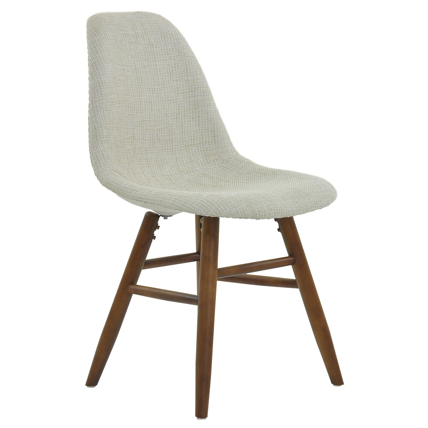 Grw Plastic Dining Chair With Walnut Colour Leg Ebay