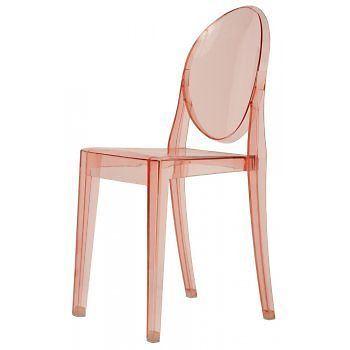 ghost stil kunststoff st hle stuhl ohne arme ebay. Black Bedroom Furniture Sets. Home Design Ideas