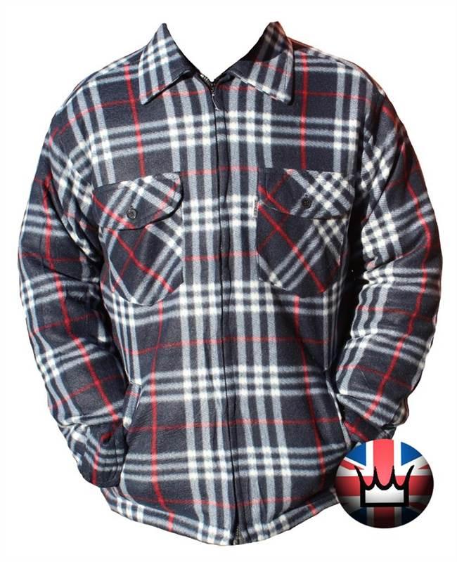 Wwk Lumberjack Fur Lined Check Shirt Polyester Fleece