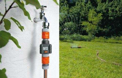 Gardena Digital Electronic Water Smart Flow Meter for Garden Hose