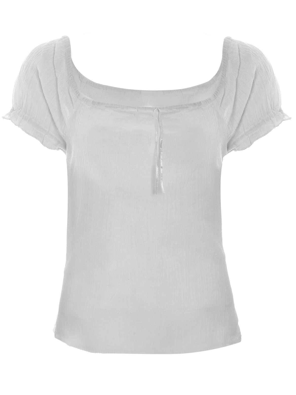 White Cotton Blouses For Summer Anlis
