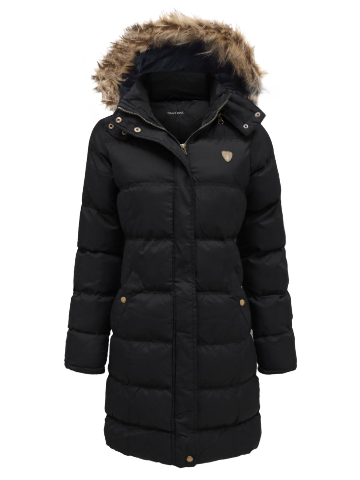 Long black padded coat ladies | Your fashionable jacket photo blog