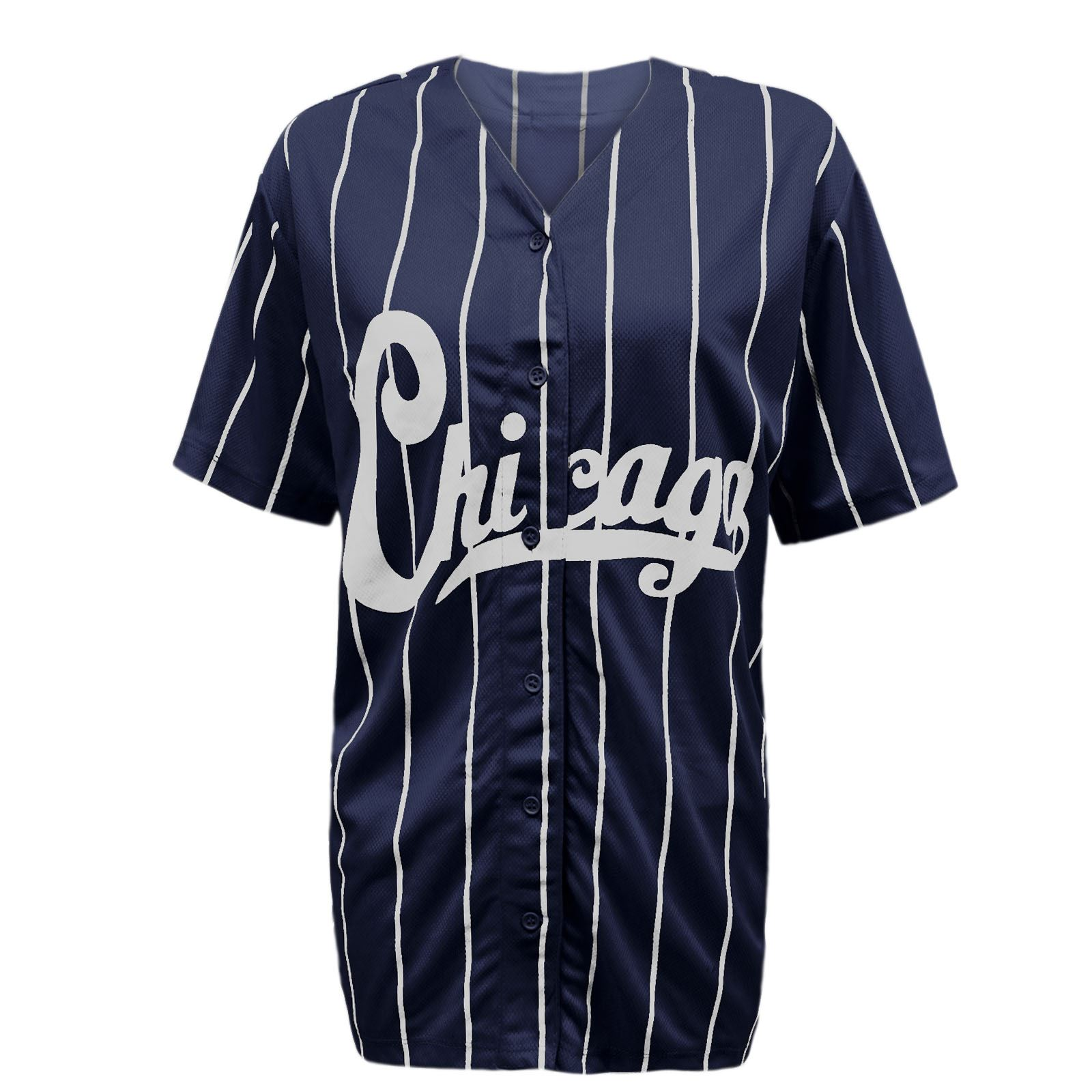 new womens ladies chicago varsity stripes american baseball jersey top t shirt ebay. Black Bedroom Furniture Sets. Home Design Ideas