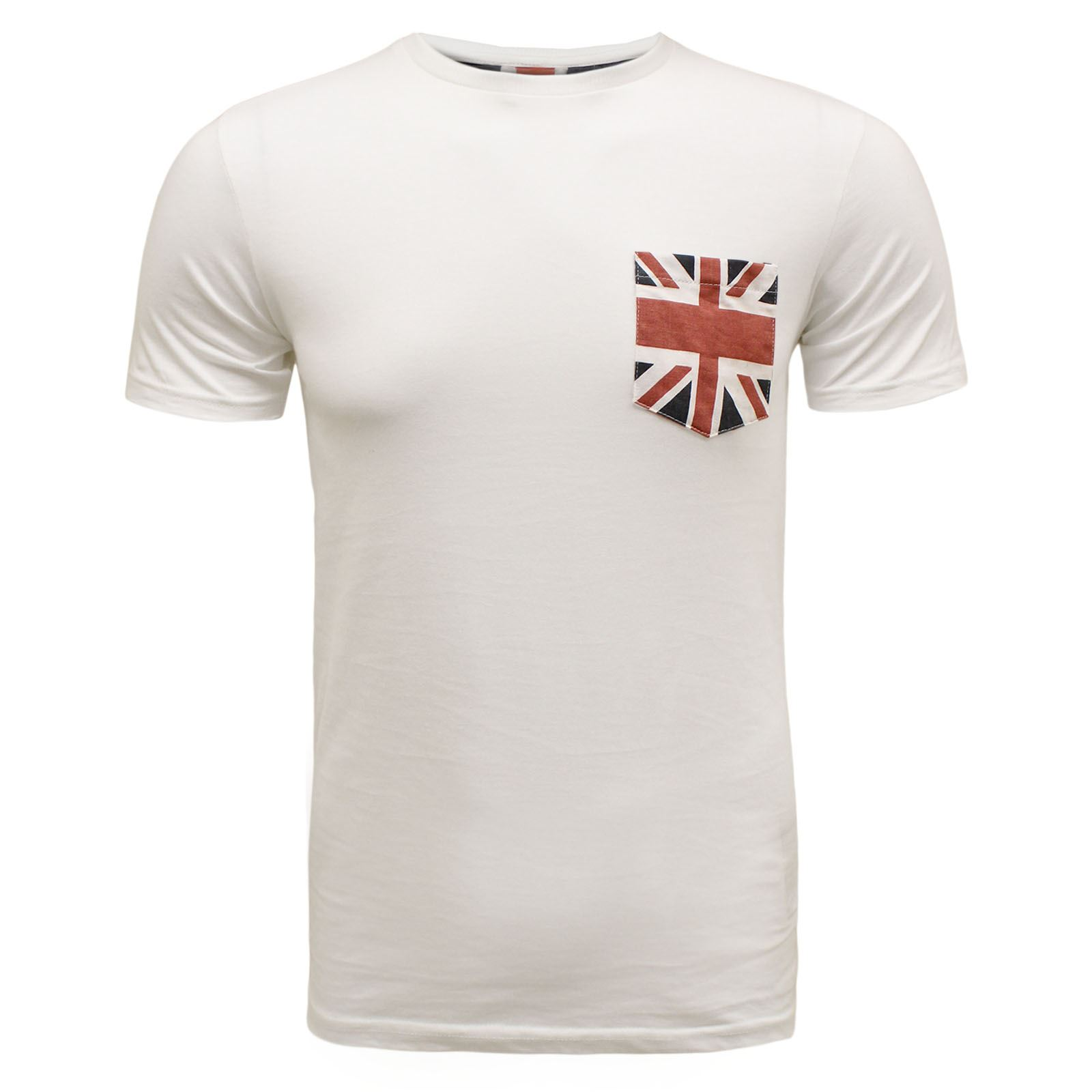 Brave soul mens summer britain uk usa flag design pocket for Pocket t shirt printing