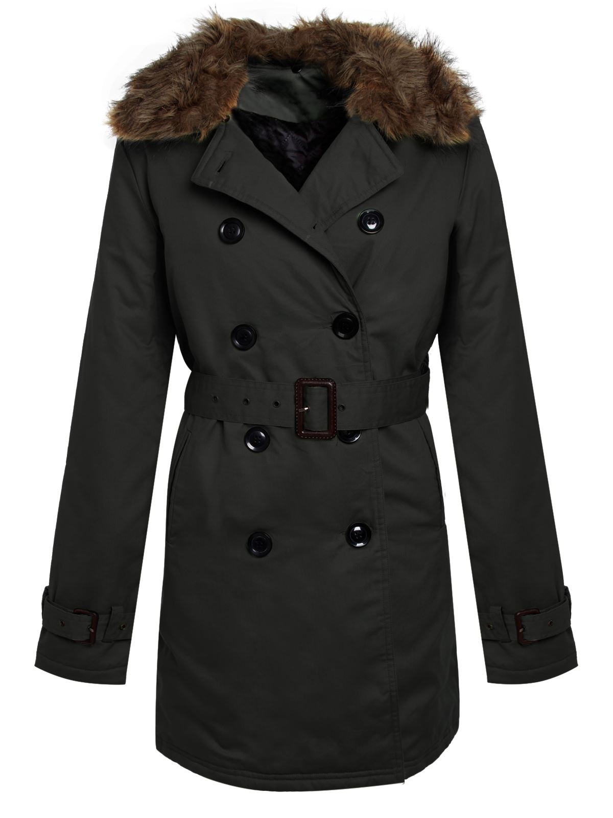 WOMENS-LADIES-BELTED-TRENCH-JACKET-DOUBLE-BREASTED-FUR-COLLAR-MAC-PADDED-COAT
