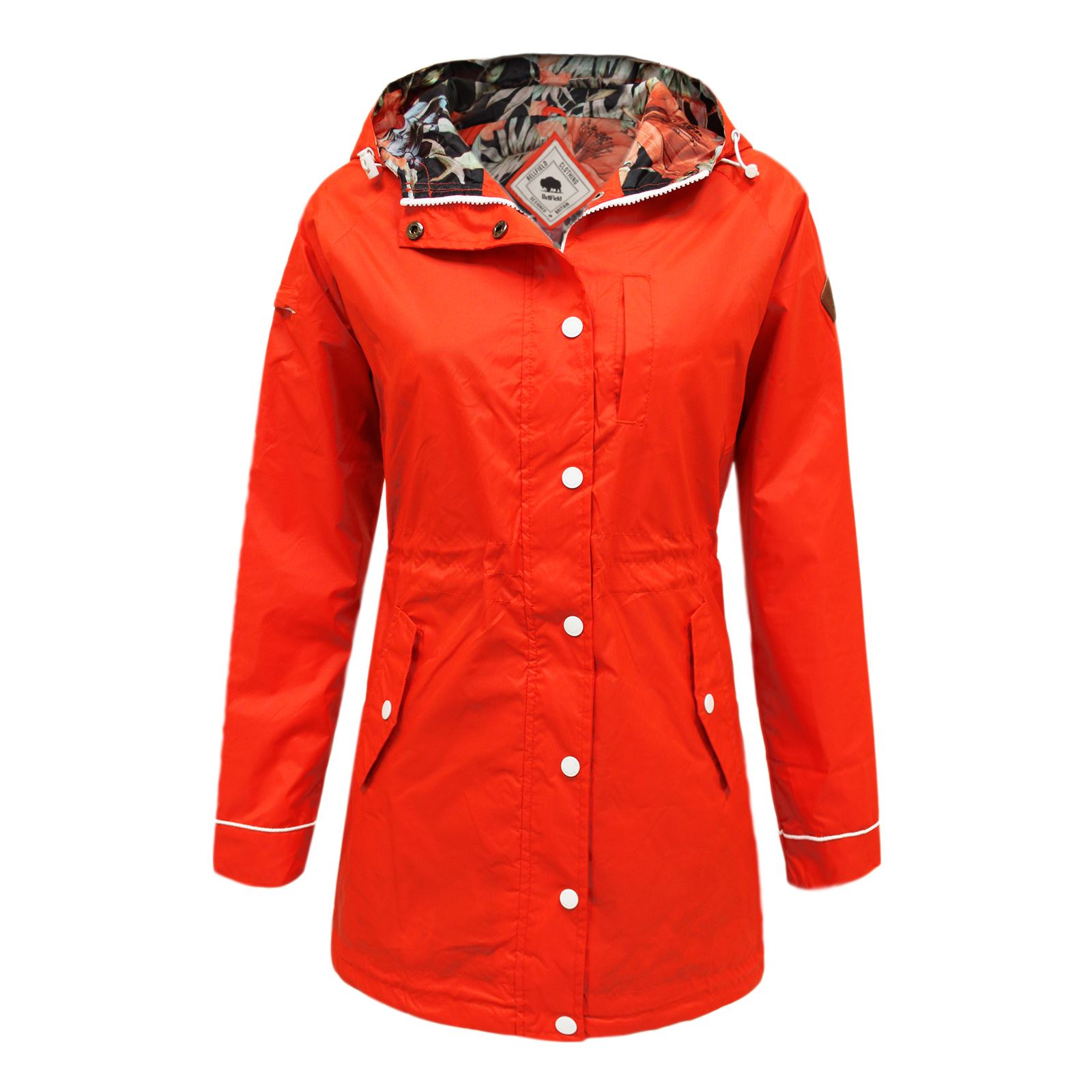 BELLFIELD WOMENS LADIES LIGHTWEIGHT WATERPROOF FESTIVAL RAINCOAT ...