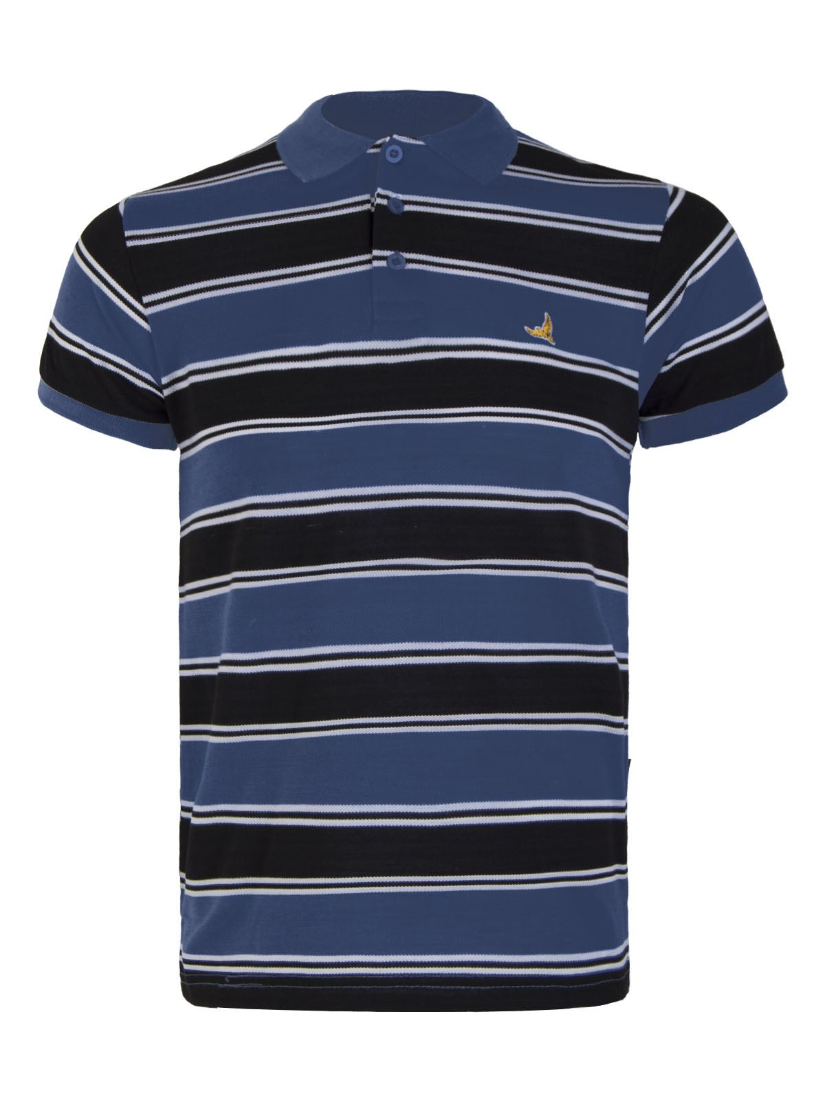 Mens collared thick contrast stripe polo t shirt short for Xxl mens polo shirts