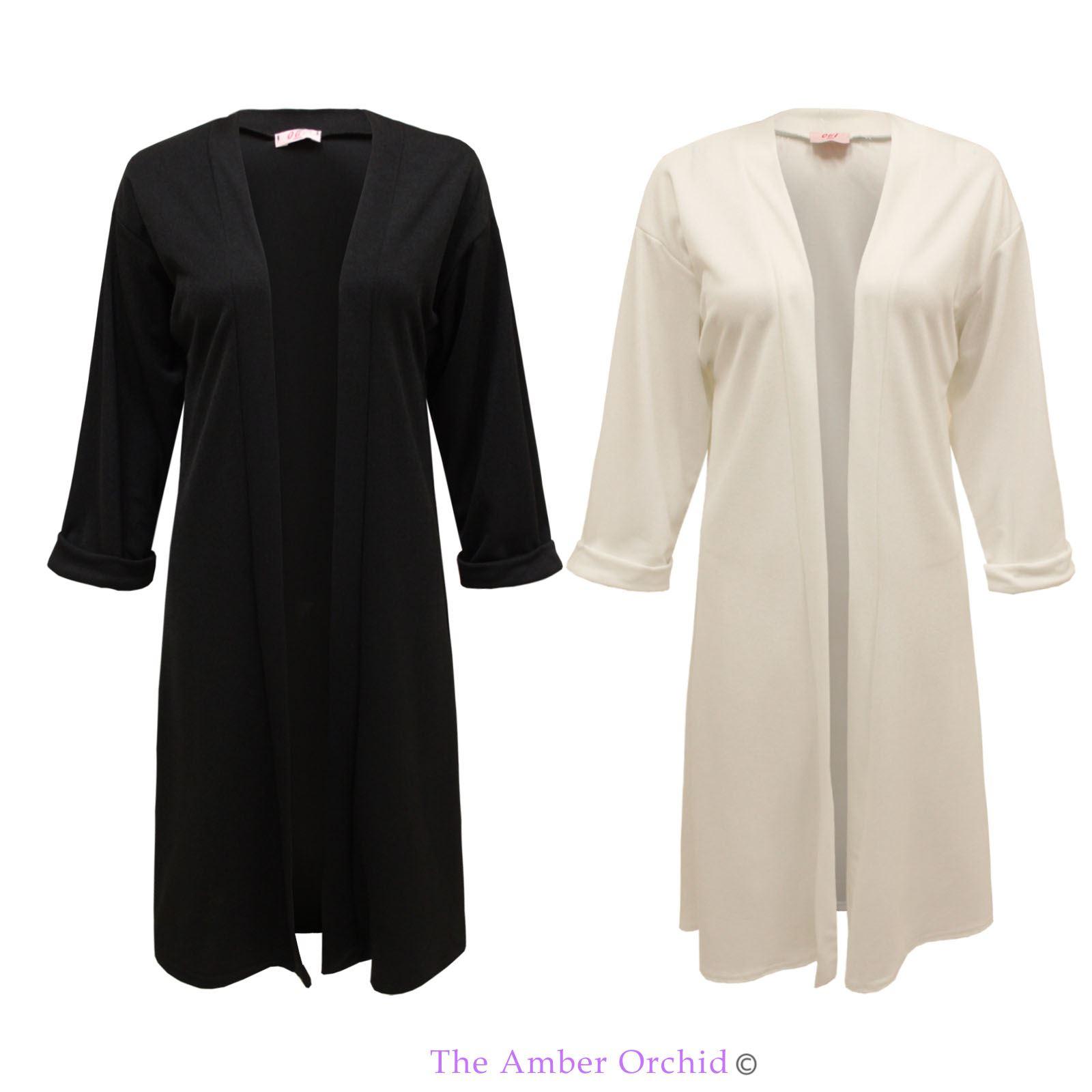 damen offen einfarbig boyfriend berdimensional kittel blazer jacke mantel ebay. Black Bedroom Furniture Sets. Home Design Ideas