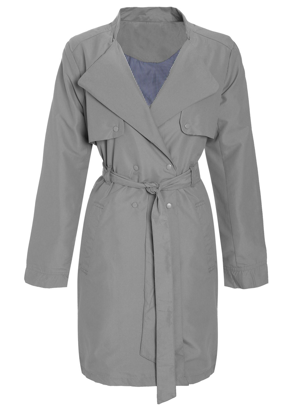 Ladies-Womens-Microfibre-Double-Breasted-Mac-Jacket-Trench-Tie-Belted-Coat