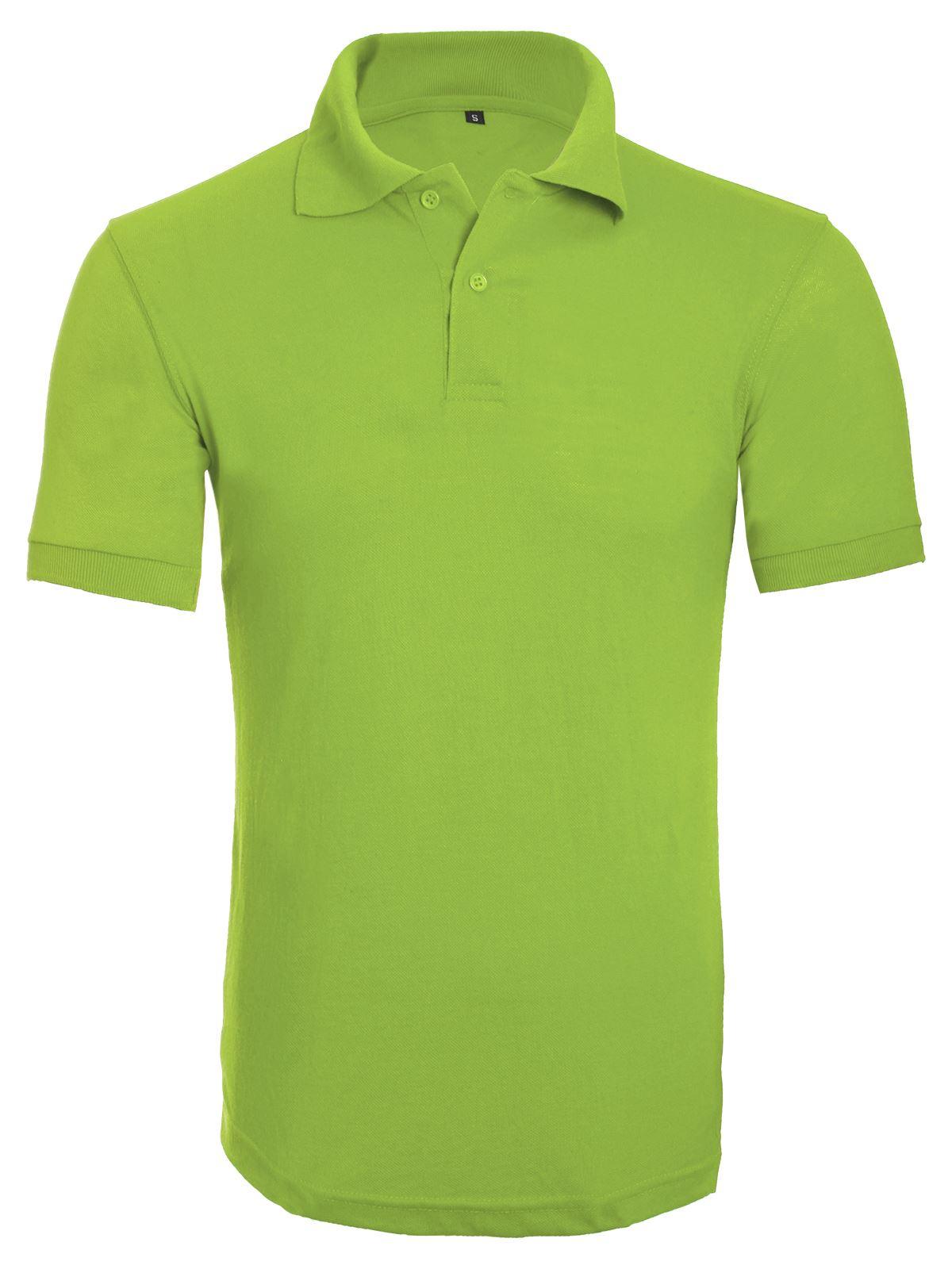 Womens mens unisex plain polo casual short sleeve shirt for Mens work polo shirts