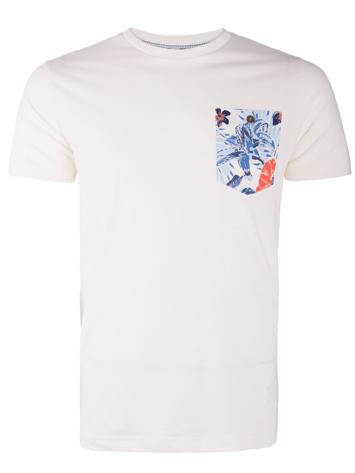 Mens short sleeve summer casual crew neck cotton top for Mens short sleeve floral shirt