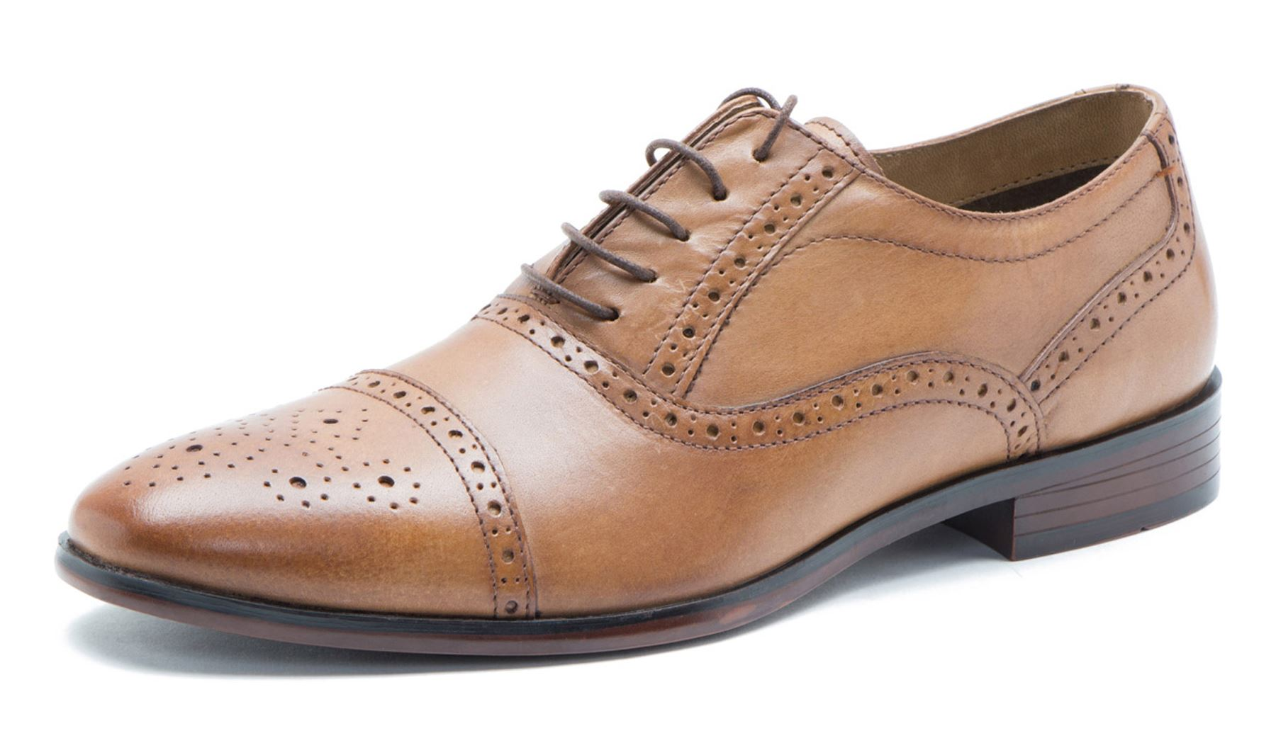 Brown Leather Brogues - Brown Redtape sR2XmCho5b