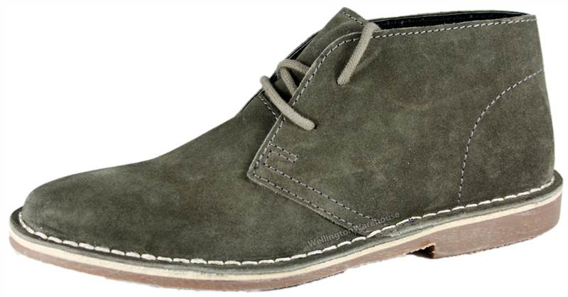 Red Tape Desert Suede Leather Lace Up Mens Chukka Gobi Boots HIGH
