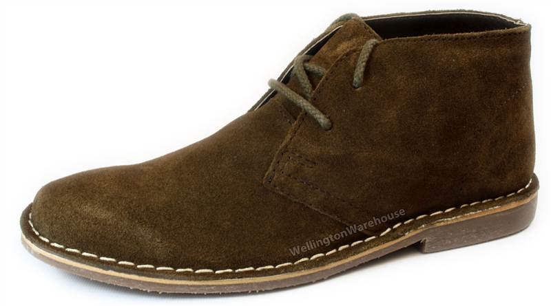 Red Tape - Gobi Suede Mens Grey Brown Tan Navy Desert Boots | eBay