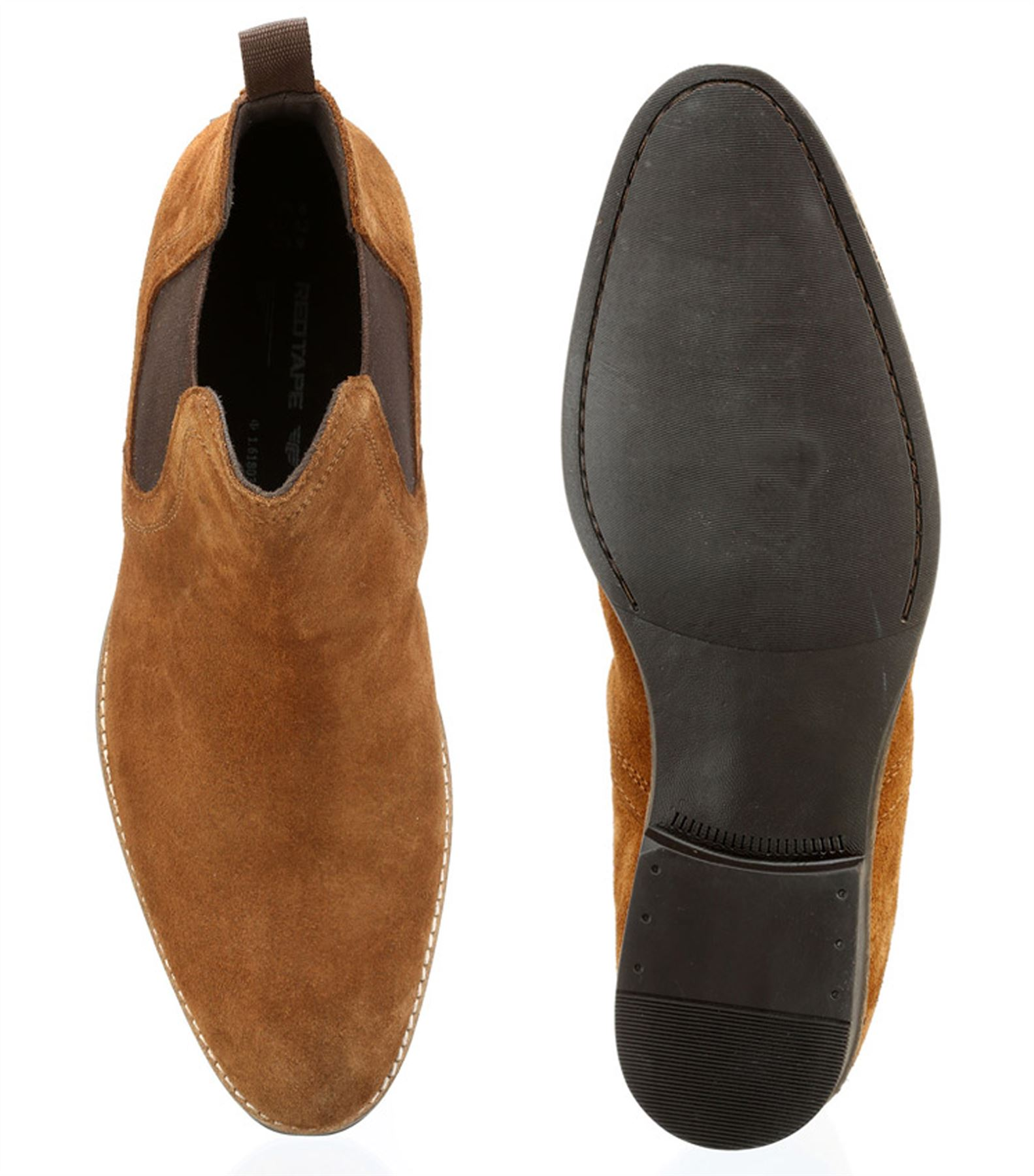Red Tape Brown Leather Shoes