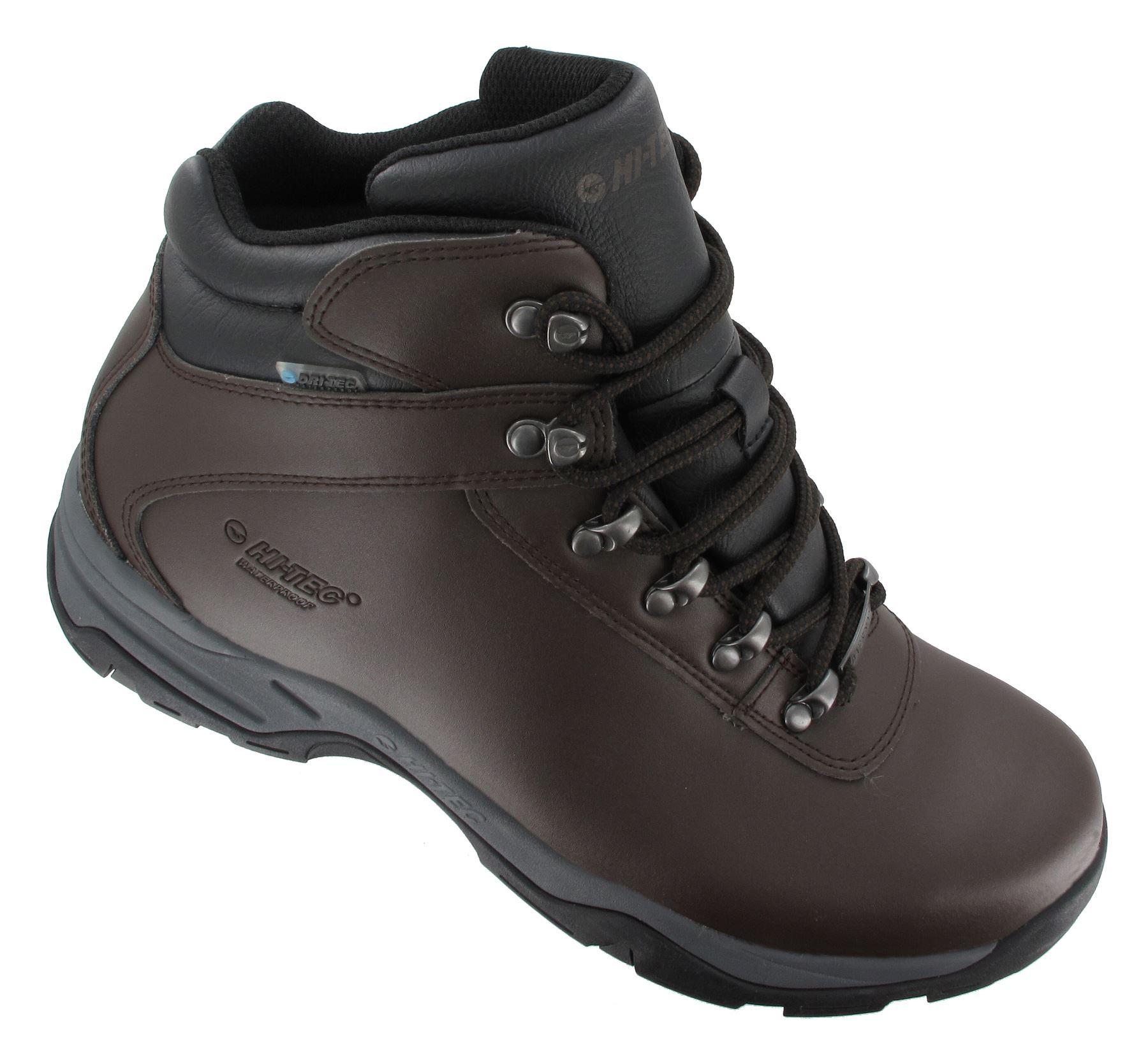 hi tec eurotrek 3 iii waterproof mens leather walking