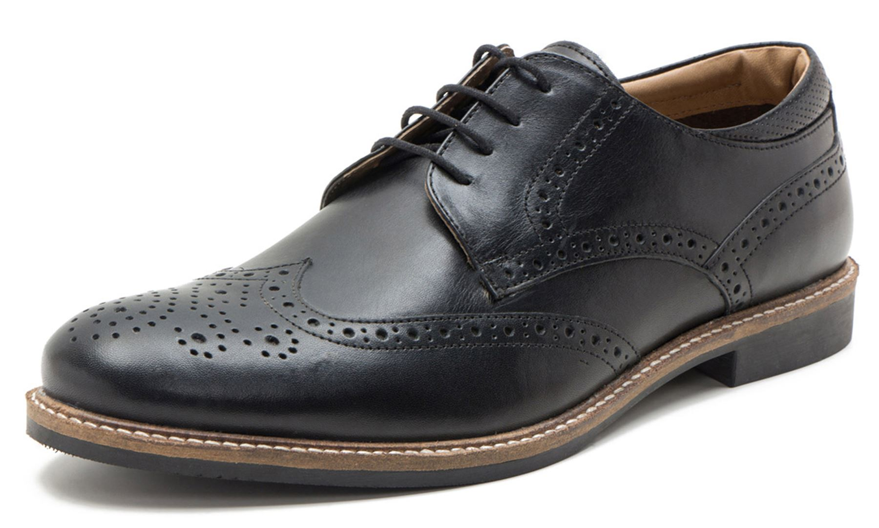 Red Tape Backford Mens Leather Brogue Derby Lace Up Shoes ...