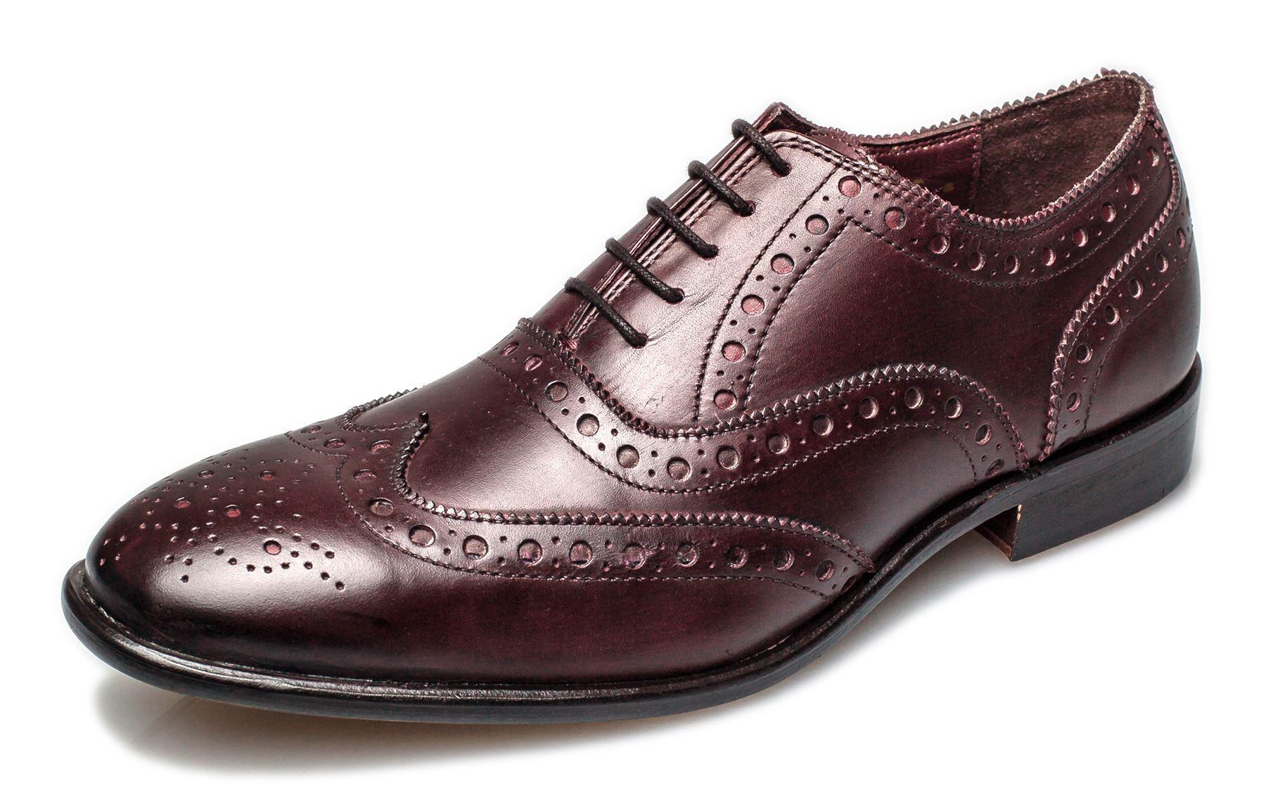 London Brogues Mens Leather Sole Bucanon Brogue Oxford Shoes | EBay
