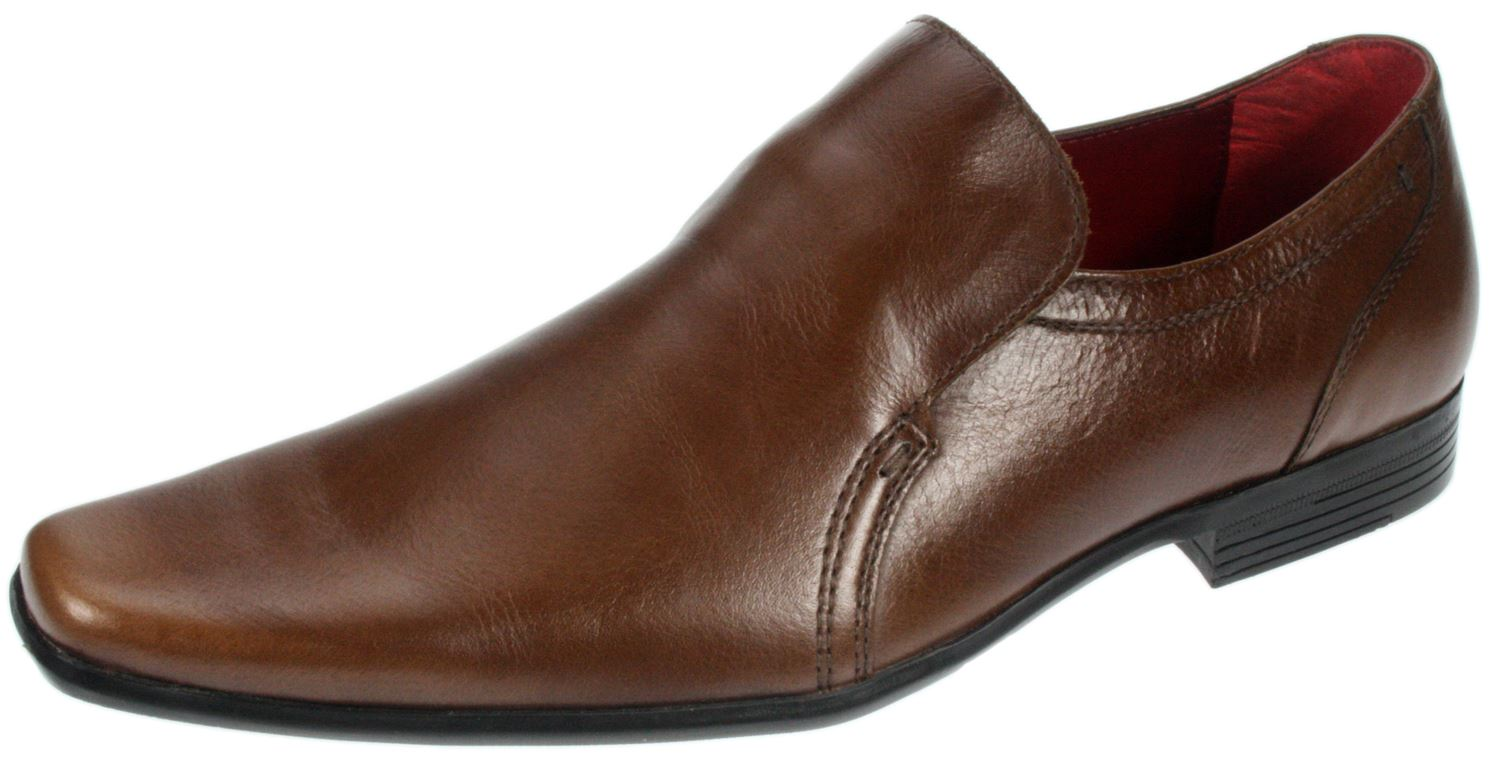humber brown leather slip on mens shoes clearance