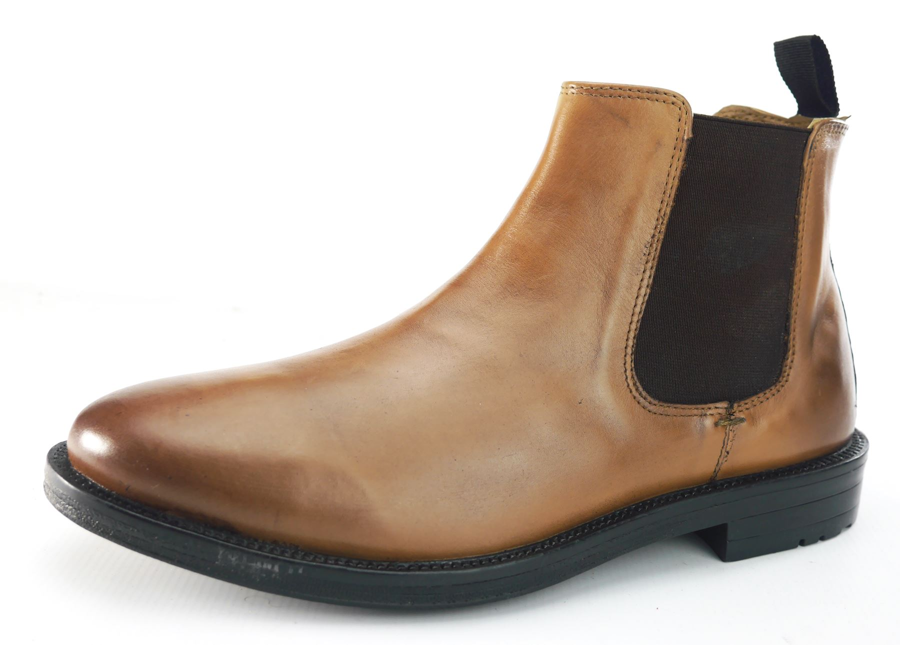 silver mens smooth chestnut or black leather