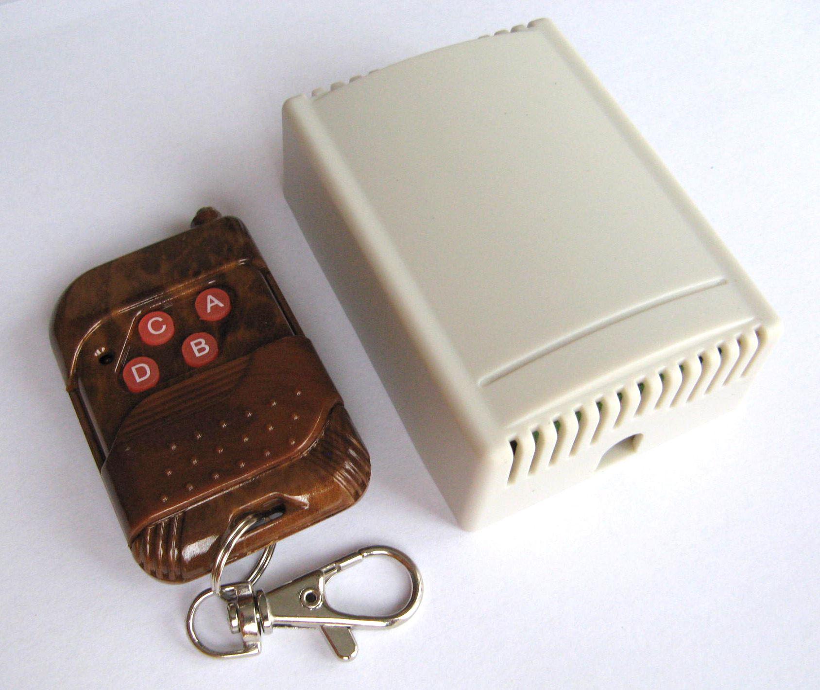 4 Channel DC 12V AC 240V RF Wireless Remote Control Switch Relay Transmitter 4CH