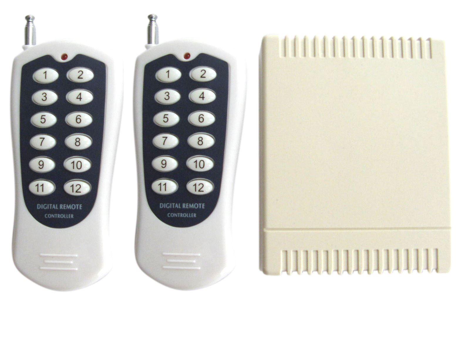 12 Channel DC 12V AC250 RF Wireless Remote Control Switch Relay Transmitter 12ch