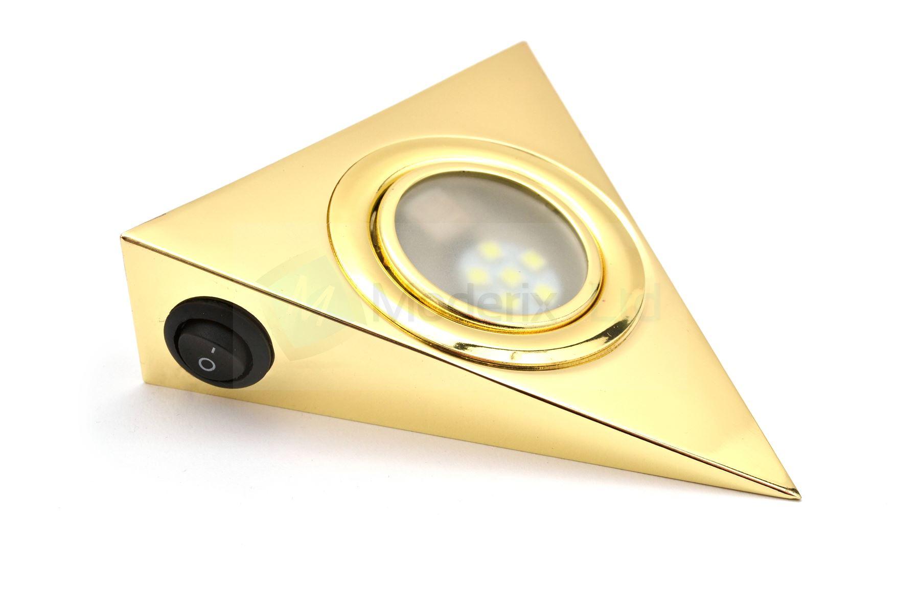 del triangle avec interrupteur or cuisine sous armoire lumi re set kit gtv ebay. Black Bedroom Furniture Sets. Home Design Ideas