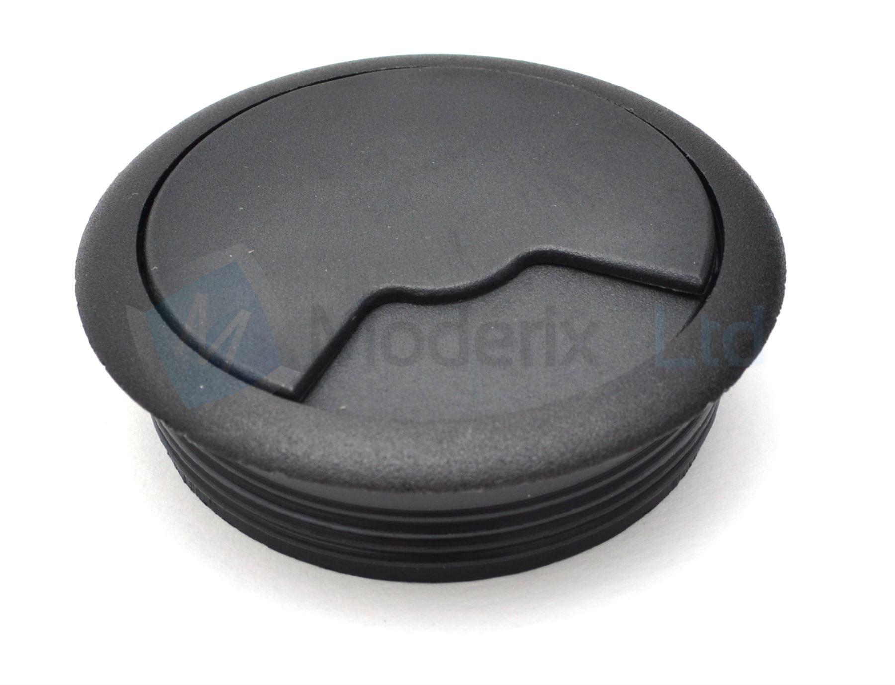 60mm Black Pc Computer Desk Plastic Grommet Table Cable