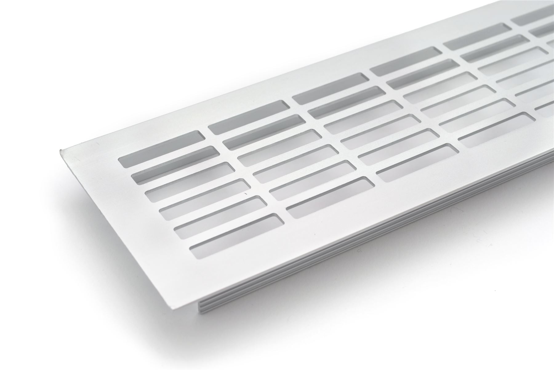 Aluminium white brushed chrome vent grill kitchen plinth worktop heat ebay - Grille ventilation aluminium ...