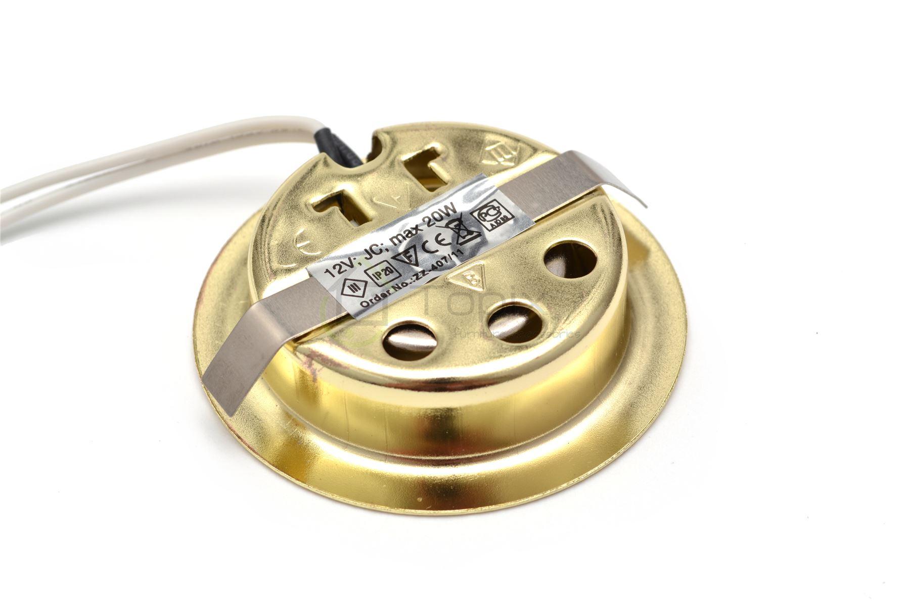 halogen einbaustrahler einbauleuchte bis 300lm flach slim g4 12v 20w in gold. Black Bedroom Furniture Sets. Home Design Ideas