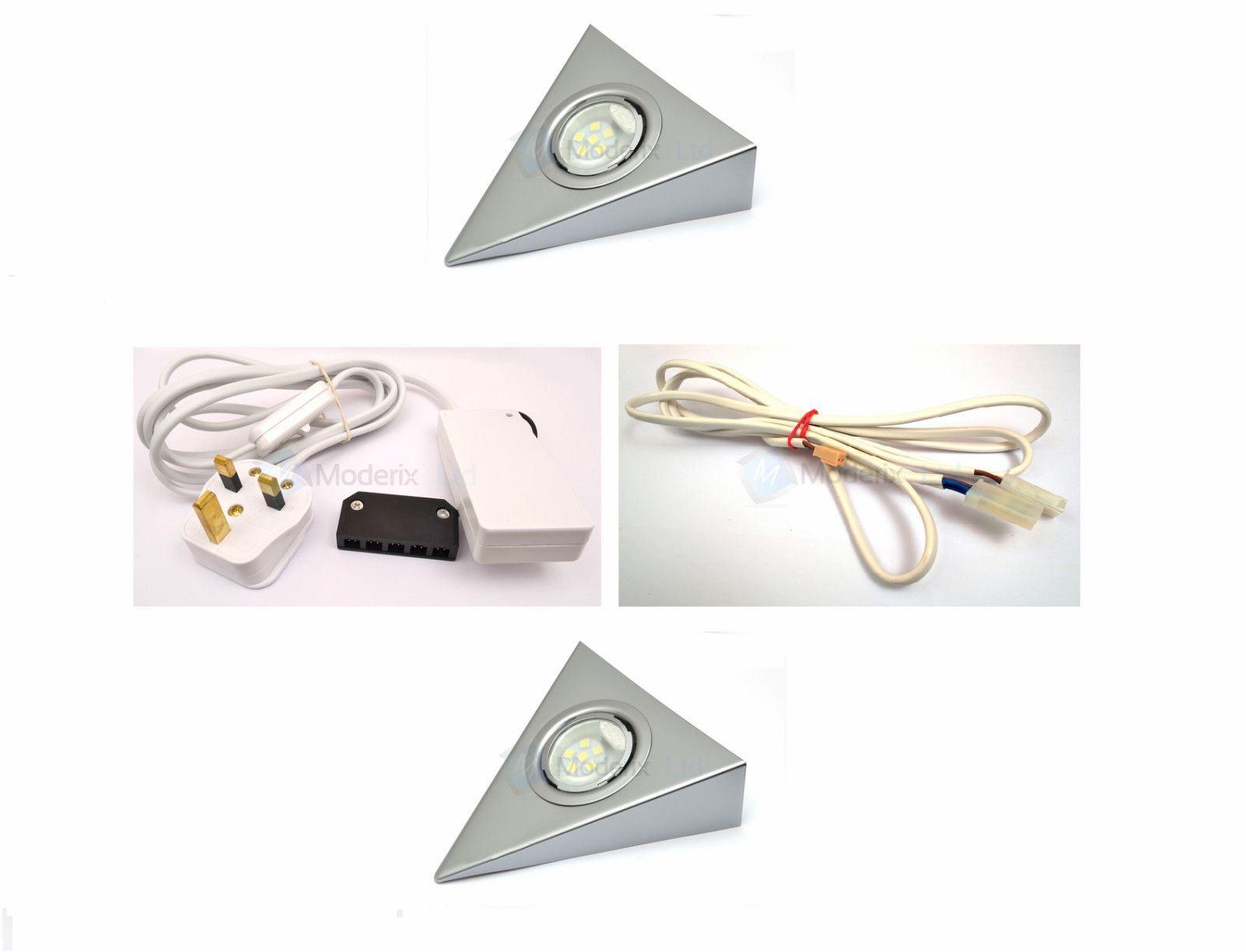 Kit de luz de led aluminio tri ngular en iluminacion - Luz led cocina ...