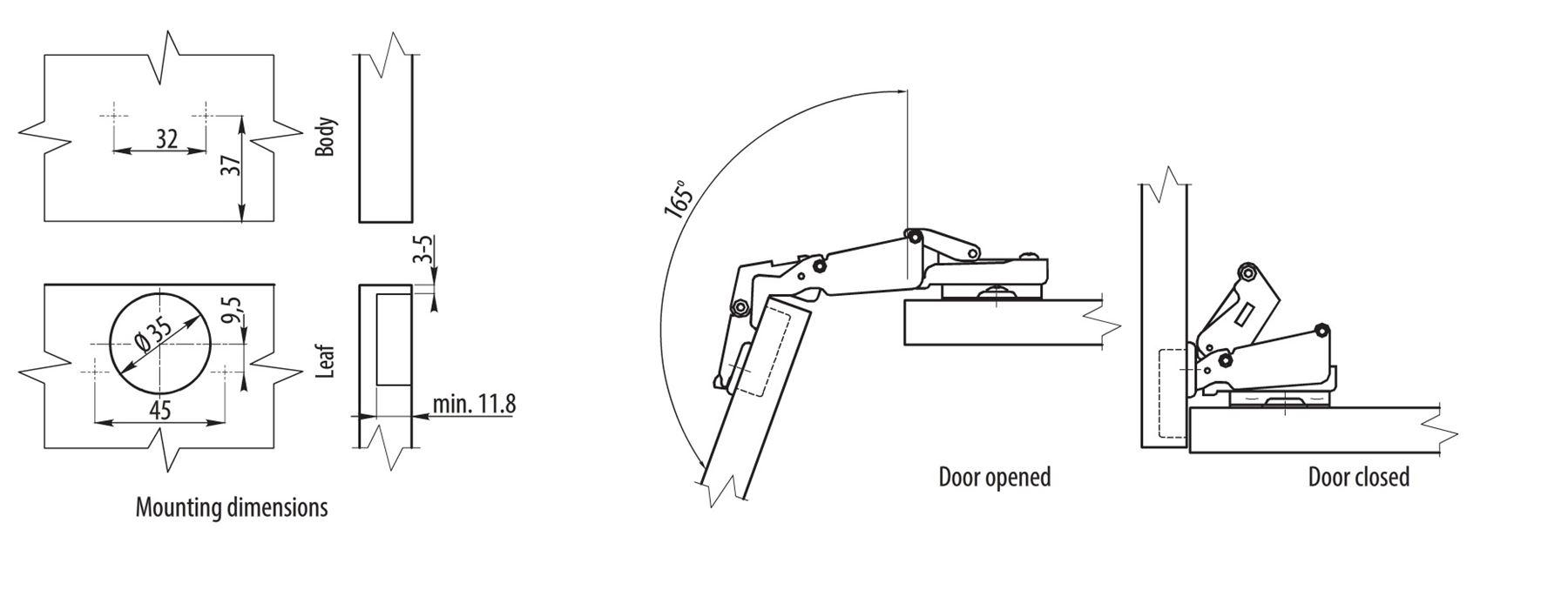 Corner Kitchen Cabinet Hinges Soft Close Door Hinge 165 Degree Kitchen Cabinet Clip On Angular
